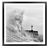 Porthcawl Lighthouse, Framed Mounted Print