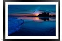 Bamburgh Blue Sunrise, Framed Mounted Print