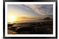 Bamburgh Sunrise, Framed Mounted Print