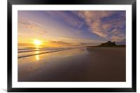 Bamburgh Sunrise, Framed Mounted Print