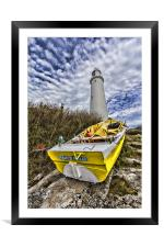 St Mary`s Lighthouse, Framed Mounted Print