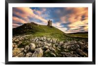 Dunstanburgh Castle, Framed Mounted Print