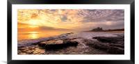 Bamburgh Sunrise Panaromic, Framed Mounted Print