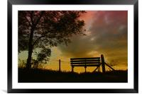 A place to relax, Framed Mounted Print