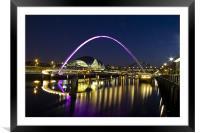 millenium bridge, Framed Mounted Print