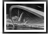 Newcastle Cityscape, Framed Mounted Print