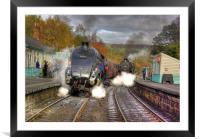 Steam at Grosmont, Framed Mounted Print