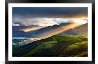 Sunrays Over Keswick, Framed Mounted Print