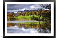 Reflections At Loughrigg Tarn, Framed Mounted Print