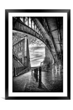 Rochdale canal, Manchester, Framed Mounted Print