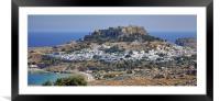 Lindos Acropolis, Framed Mounted Print