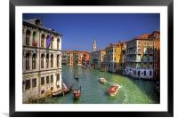 Light Traffic on the Grand Canal, Framed Mounted Print