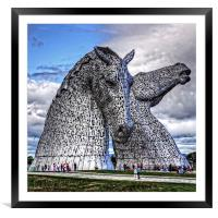 The Kelpies, Framed Mounted Print