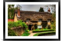 Cottage by the Thornton Beck, Framed Mounted Print