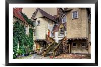 Steps in White Horse Close, Framed Mounted Print