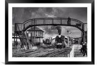 Bo'ness and Kinneil Railway B&W, Framed Mounted Print