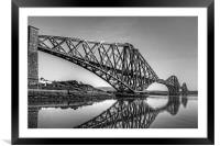 North Queensferry Reflections - B&W, Framed Mounted Print