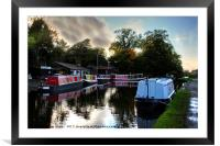 Linlithgow Canal Centre, Framed Mounted Print