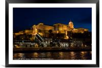 Buda Castle from the Danube, Framed Mounted Print