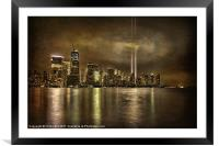 Downtown Drama, Framed Mounted Print