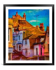 "Hastings Old Town ""Paintography"", Framed Mounted Print"