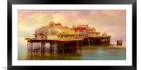 The Last Days Of The West Pier, Framed Mounted Print