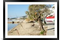 Anglers At Little Italy On The Pine Walk, Framed Mounted Print