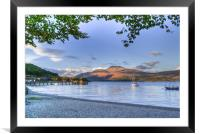 Loch Lomond at Luss From The Beach, Framed Mounted Print