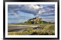 Rainbow Over Bamburgh, Framed Mounted Print