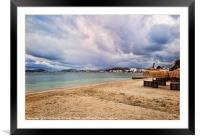 Puerto de Pollensa Beach, Framed Mounted Print