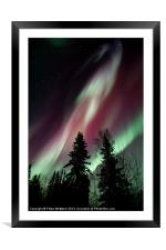 flowing colours, Framed Mounted Print