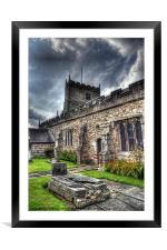 St Michaels on Wyre Church, Framed Mounted Print