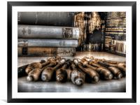 Bobbins & Books, Framed Mounted Print