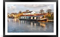 Lancaster canal, Framed Mounted Print