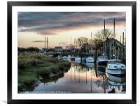 Sunset at Skippool Creek., Framed Mounted Print