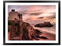 St Catherines Island Tenby, Framed Mounted Print