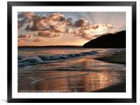 Sunrise over Carbis Bay, Framed Mounted Print