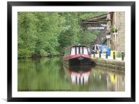 The Rochdale Canal., Framed Mounted Print