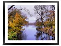 Autumn in the Park, Framed Mounted Print