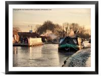 The Frozen Lancaster Canal, Framed Mounted Print
