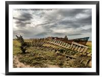 Decommissioned Trawlers., Framed Mounted Print