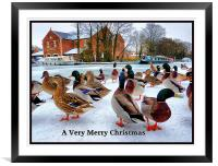 Merry Xmas to Everyone on P4ME, Framed Mounted Print