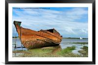 Decommissioned Trawler, Framed Mounted Print