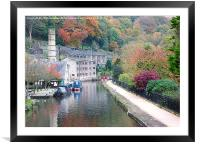 Autumn at Hebden., Framed Mounted Print