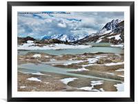 Bernina Pass and Glaciers, Framed Mounted Print