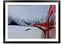 The Glacier Express , Framed Mounted Print