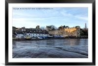 Fishermens Cottages , Conwy. , Framed Mounted Print