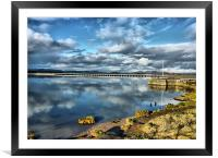 Kent Viaduct and Arnside Pier., Framed Mounted Print