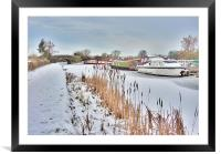Frozen Lancaster Canal, Framed Mounted Print
