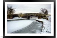 Frozen Lancaster Canal, Framed Mounted Print
